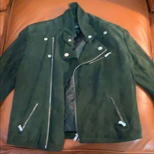 Ralp Lauren Lauren label sz dark green motto coat